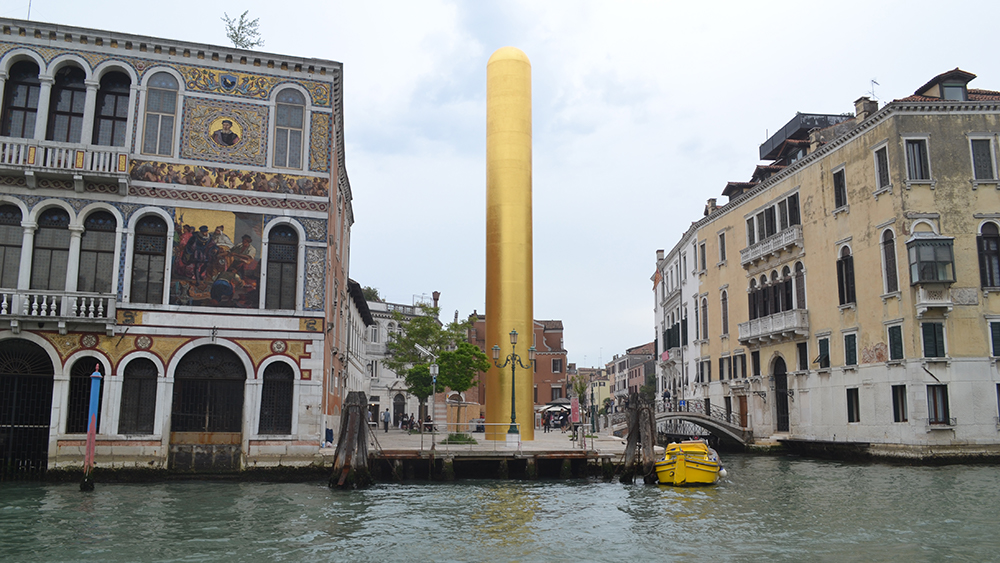 James Lee Byars's The Golden Tower, an official collateral event of the 2017 Venice Biennale.