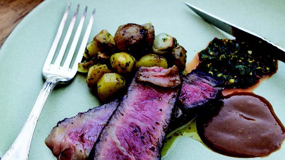 grilled bone-in ribeye