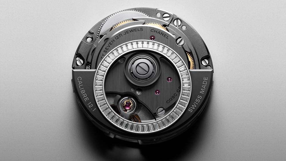 Chanel J12 Caliber 12.1 Baguette Diamond Rotor