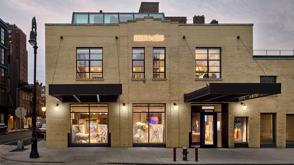 The building that houses Hermès newest store in New York City's Meatpacking district once served as a photo studio for Annie Leibovitz and Steven Meisel.