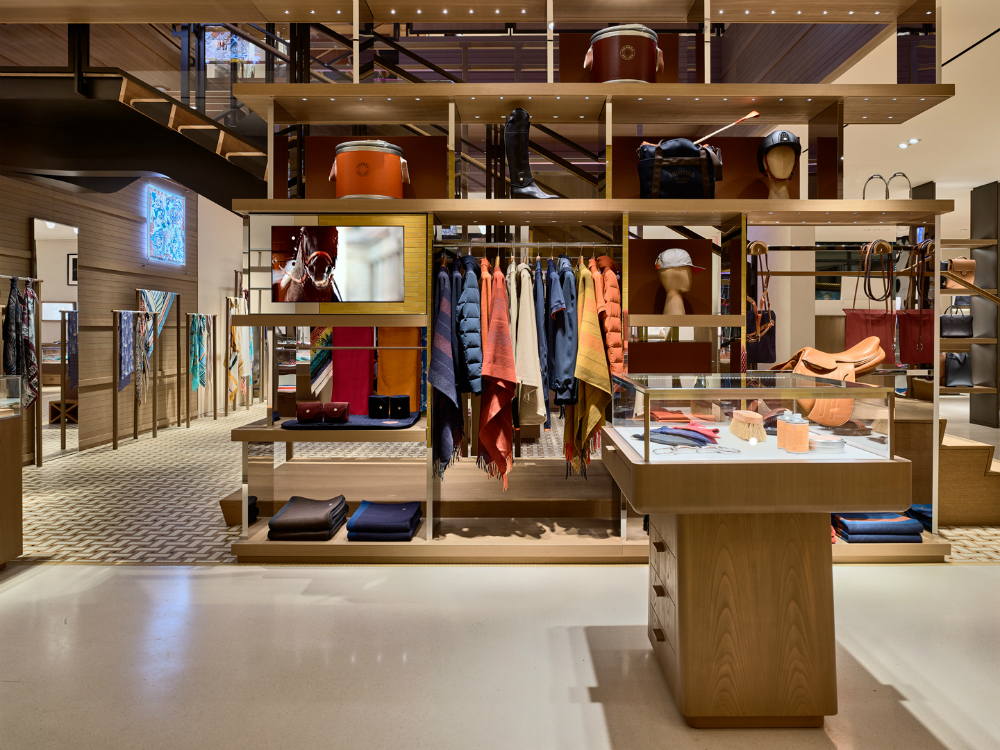 All 15 of the house's métiers are represented in Hermès new Meatpacking district store.