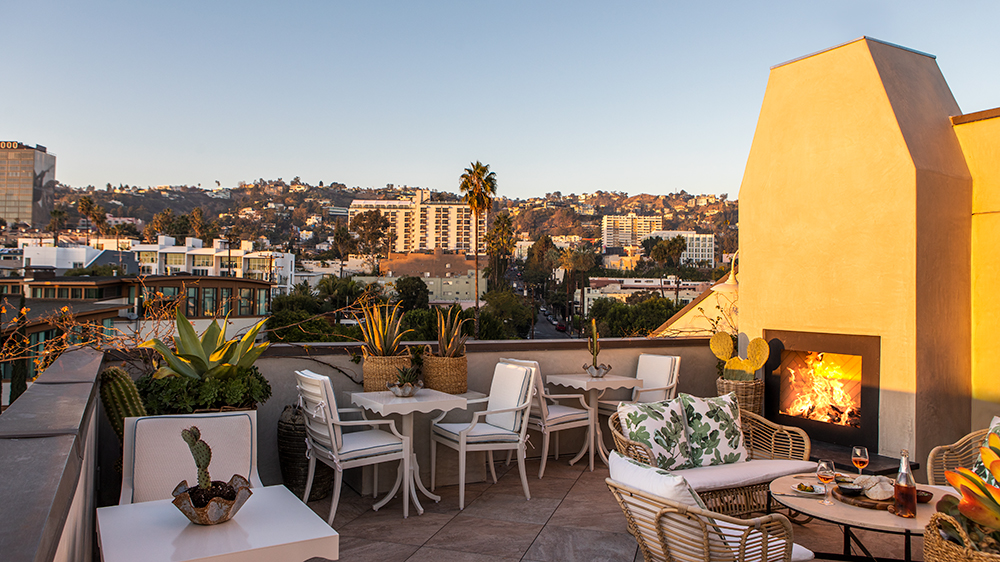 The roof deck at Hotel 850