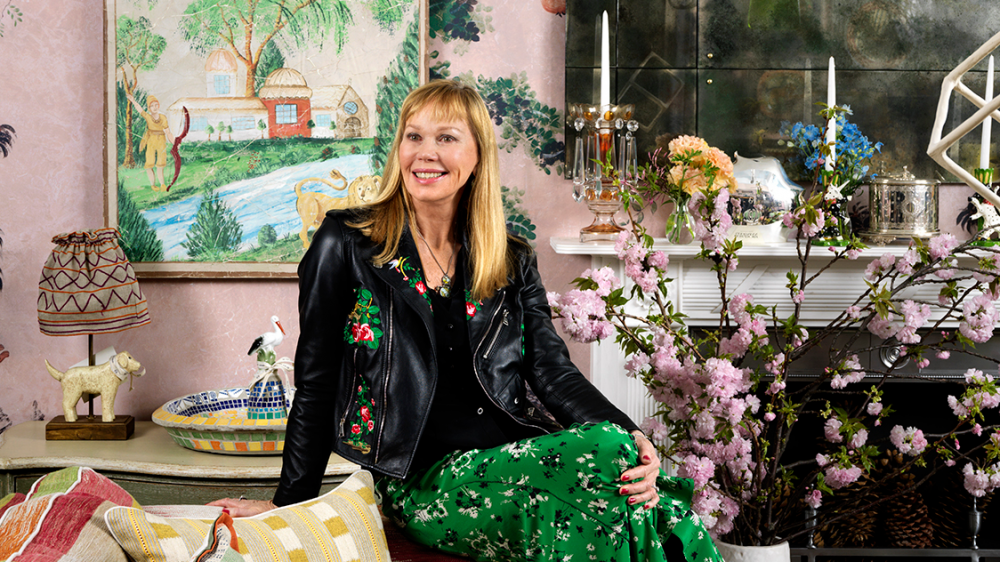 Designer Kit Kemp at her pop-up space on the seventh floor of Bergdorf Goodman.