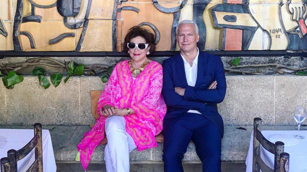 Klaus Biesenbach and Marina Kellen French.