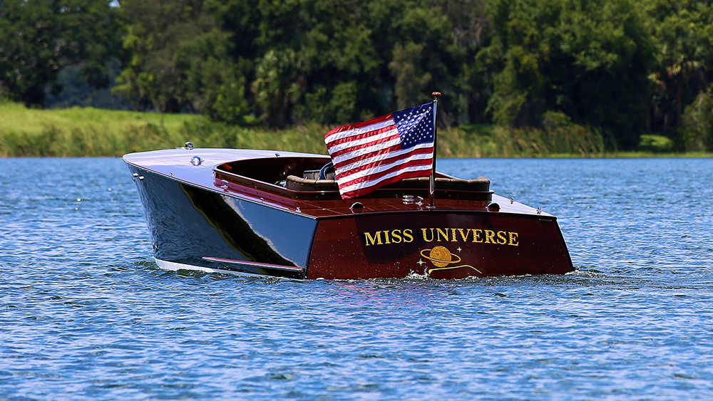 Miss Universe wooden boat