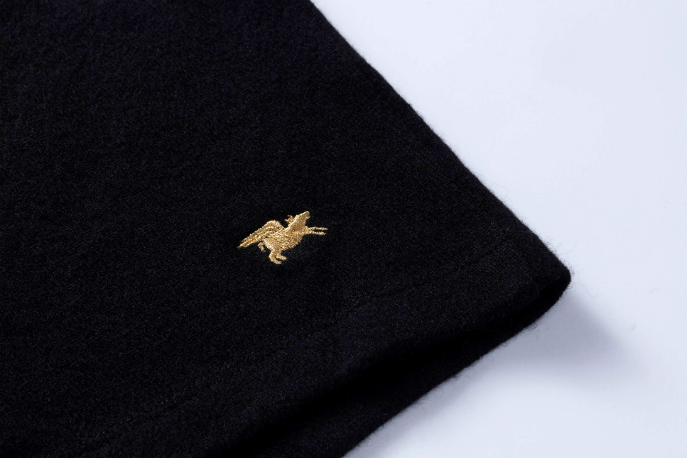 Nice Laundry's $1,000 cashmere boxers are embroidered with a flying pig in thread that's coated with 24-karat gold.