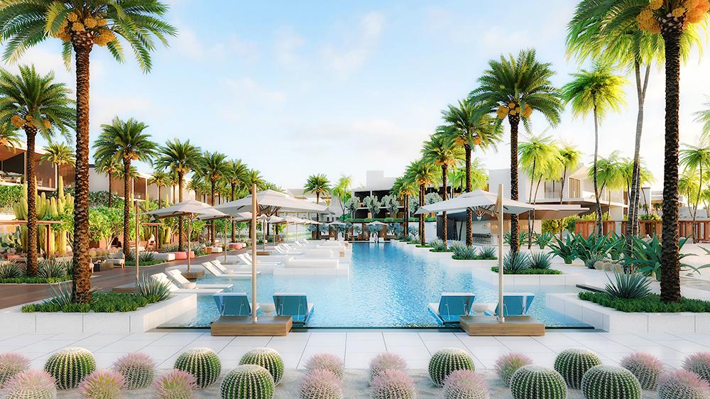 swimming pool at Nobu Hotel Los Cabos Mexico