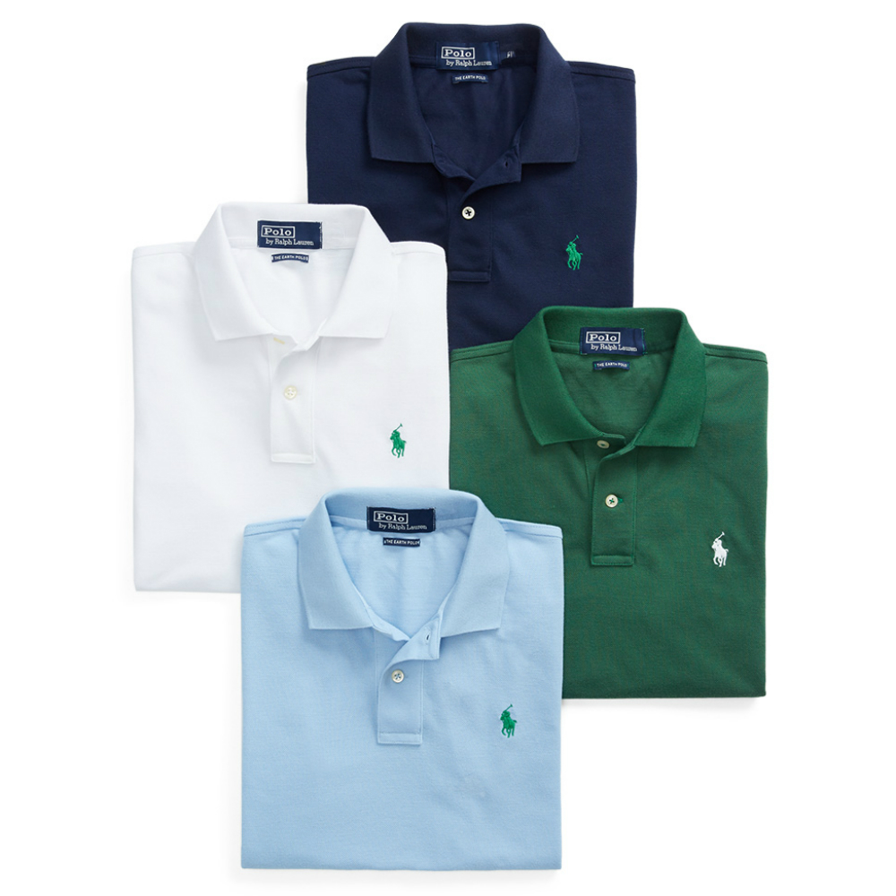 Ralph Lauren's new Earth Polo comes in four colors: white, black, green and blue.