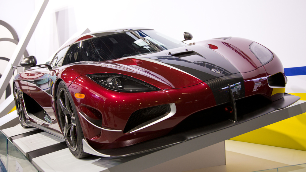 The Koenigsegg Agera RS.