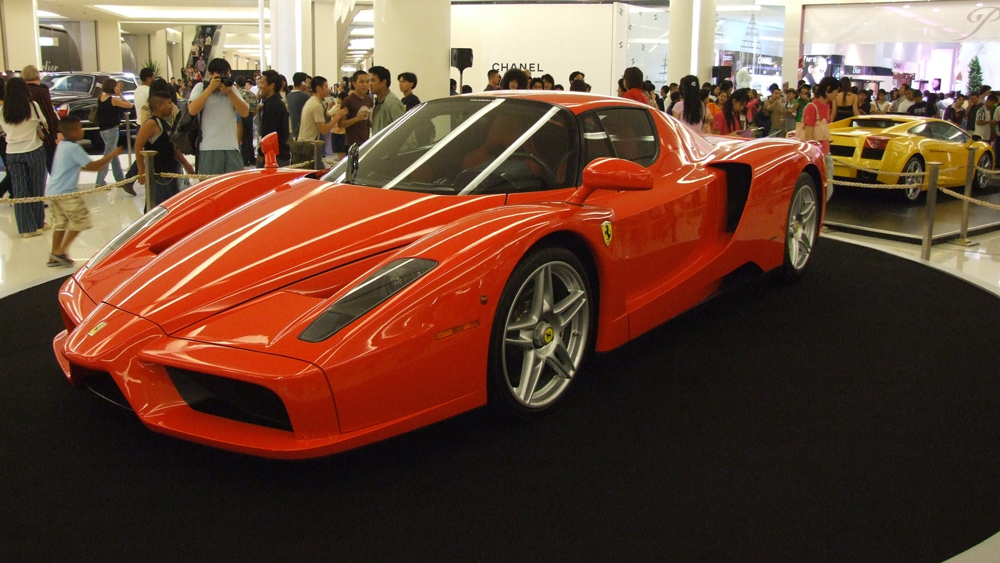 One of 399 examples of the Ferrari Enzo.