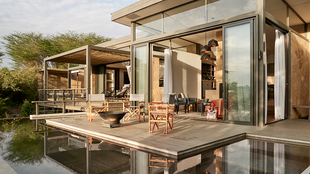 The Geoffrey Kent Suite at Kenya's Sanctuary Olonana