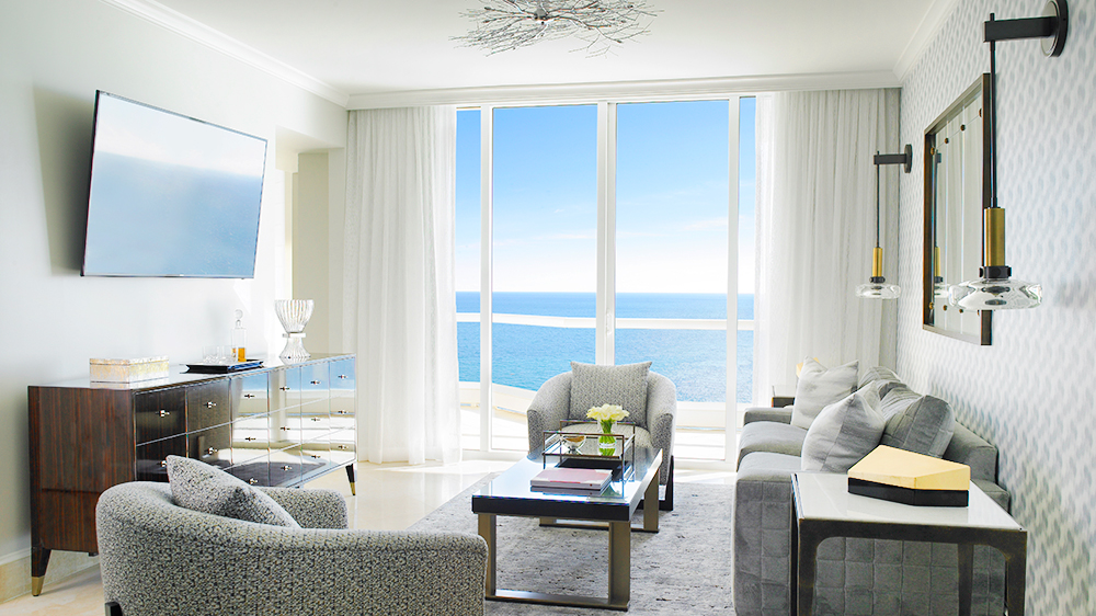 The new Grand Deluxe Three-Bedroom Oceanfront Suite at Acqualina