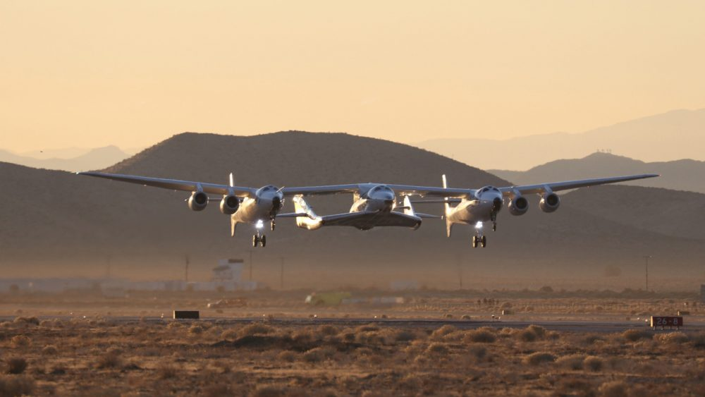 VSS Unity/VMS Eve take off for a push past the atmosphere in December.