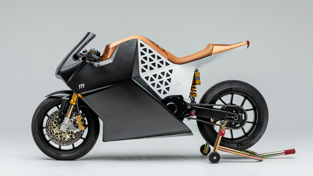 The Mission One electric motorcycle.