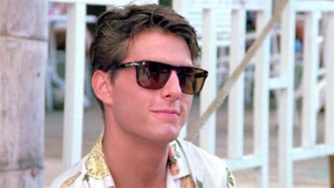 Tom Cruise wearing Persol shades in the 1988 classic Cocktail.