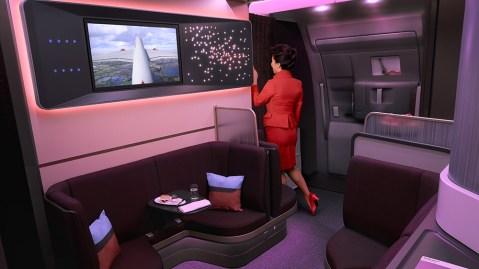 Virgin Atlantic's Upper Class Loft lounge