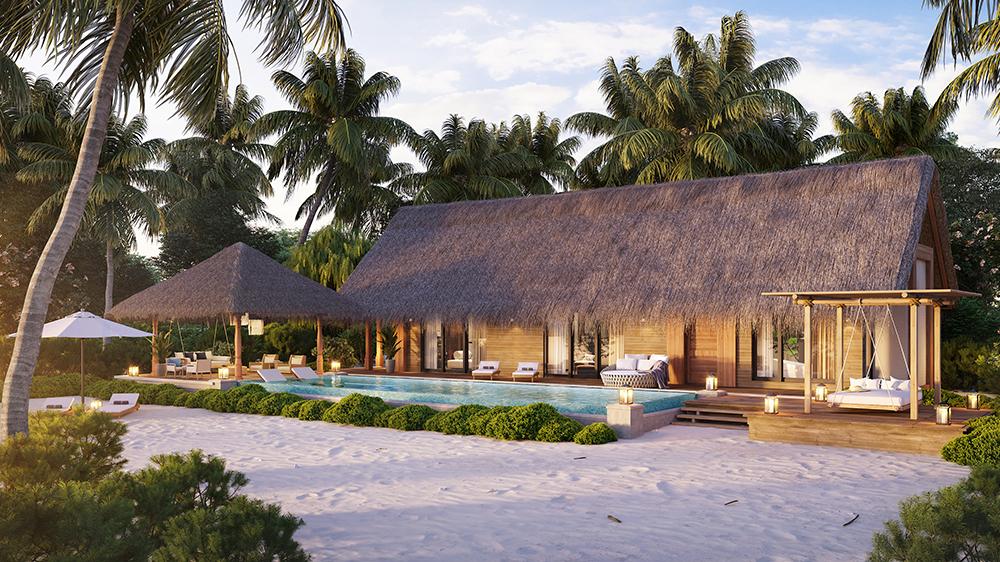 A One-Bedroom Beach Villa at Waldorf Astoria Maldives Ithaafushi