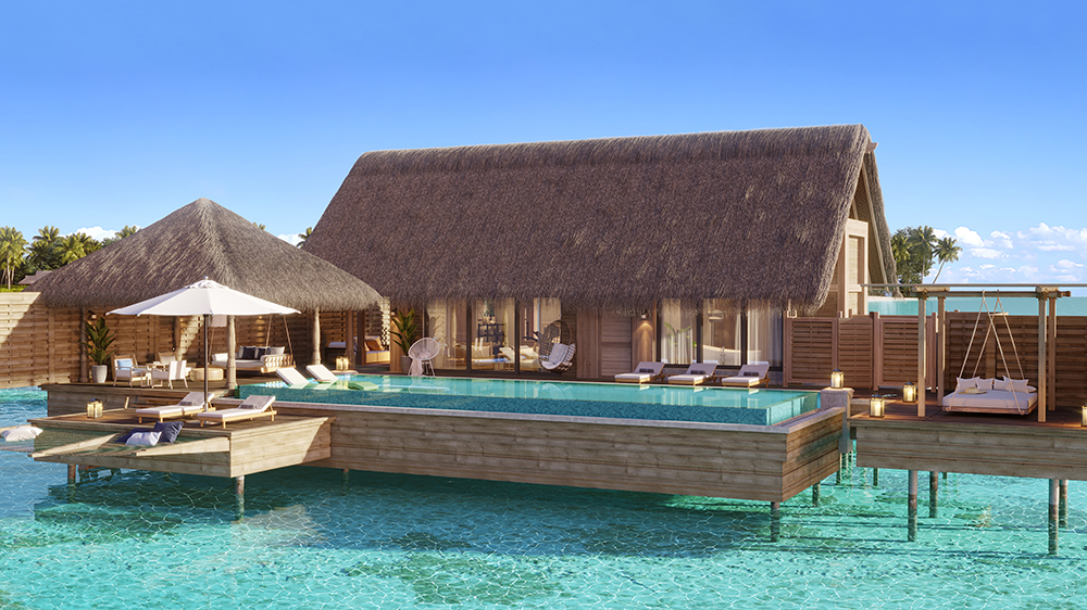 A One-Bedroom Overwater Villa at Waldorf Astoria Maldives Ithaafushi