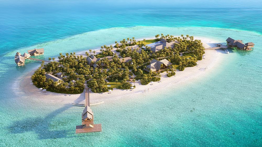 The private island at Waldorf Astoria Maldives Ithaafushi