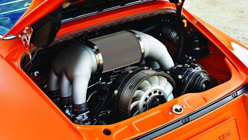 The 390 hp engine inside Singer's Porsche Bahrain commission
