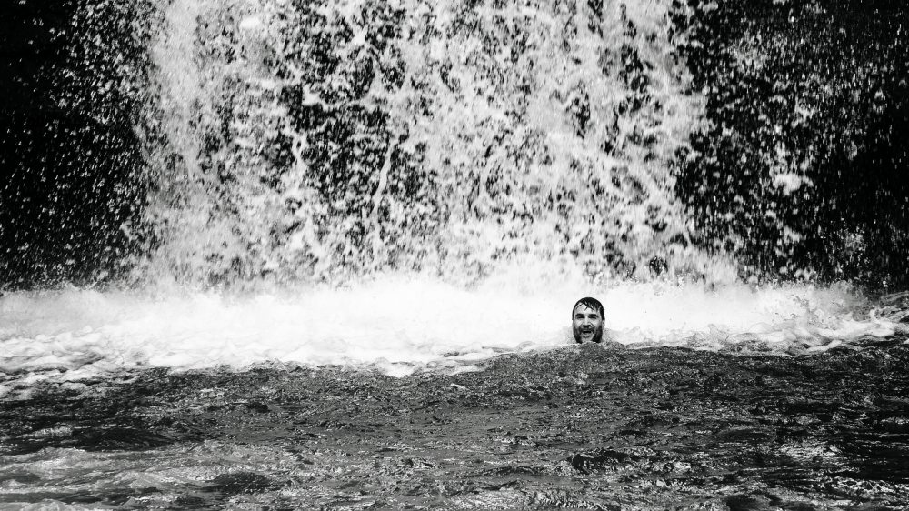 Henry Cookson takes a dip by another waterfall near Tisquizoque in Colombia.