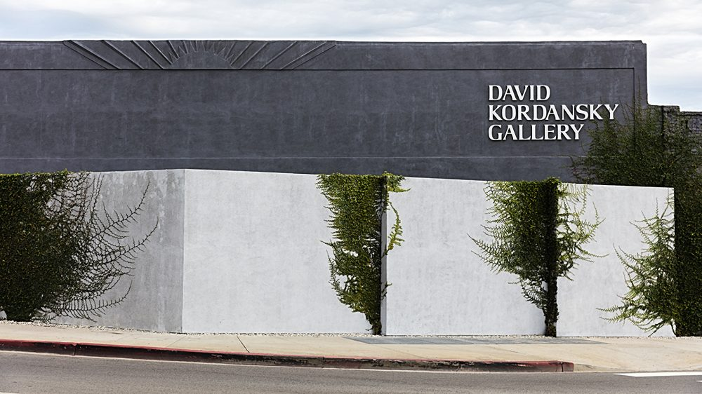 The exterior of the David Kordansky Gallery in Los Angeles
