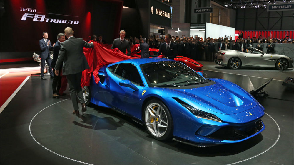 Unveiling the Tributo at the Geneva International Motor Show.