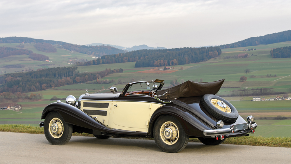 The 1937 Mercedes-Benz 540 K Cabriolet A by Sindelfingen presented by RM Sotheby's.