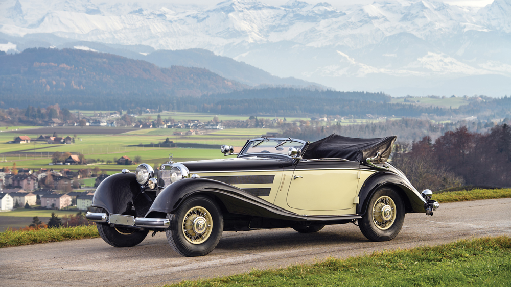This 1937 Mercedes-Benz 540 K Cabriolet A by Sindelfingen sold for approximately $2.5 million.