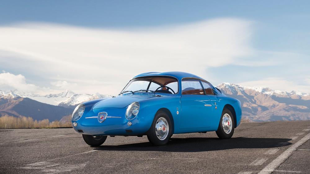 """A 1959 Fiat-Abarth 750 GT """"Double Bubble"""" by Zagato."""