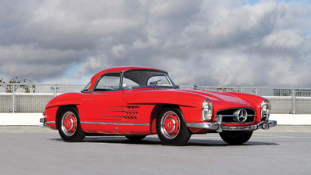 This 1959 Mercedes-Benz 300 SL Roadster sold for roughly $1 million.