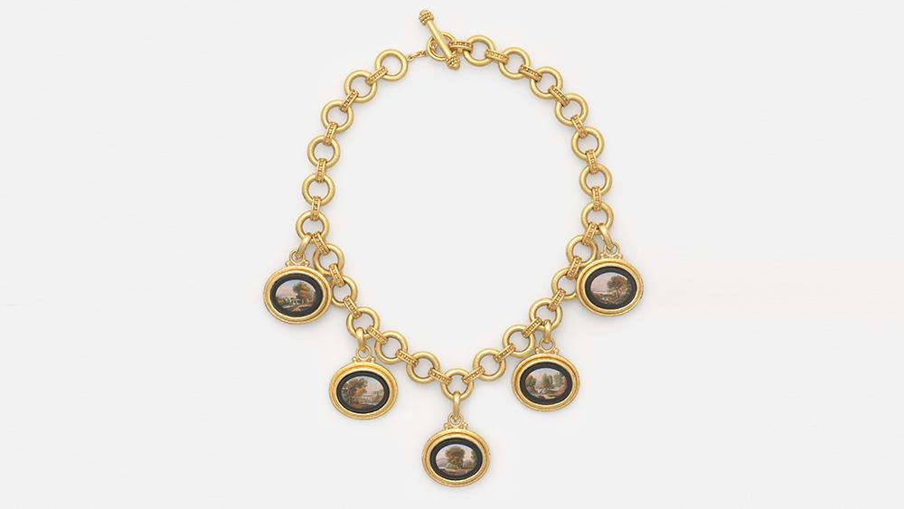 Micromosaic necklace circa 19th century