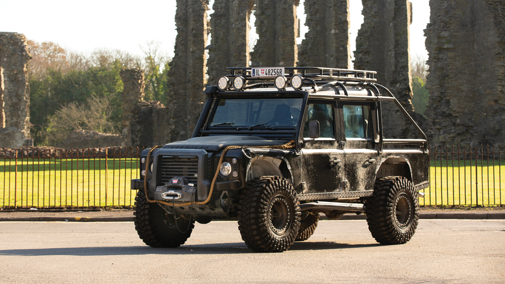 The film vehicle features 37-inch tires, a heavy-duty roll cage and a toughened suspension.