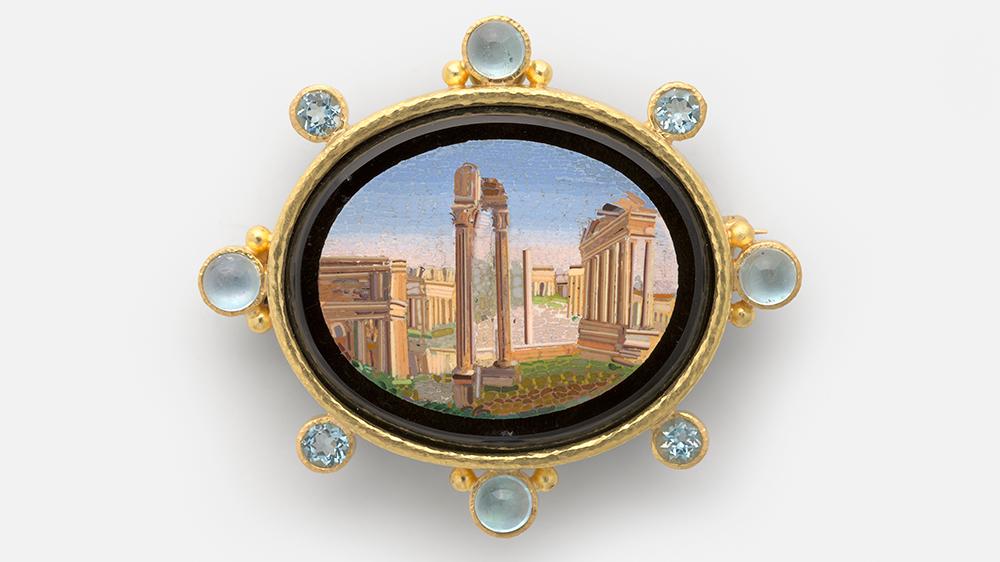 Roman Forum 19th century micromosaic