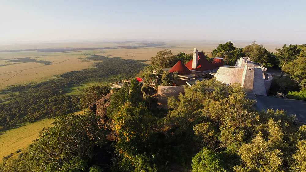 The view over the Maasai Mara from Angama Mara