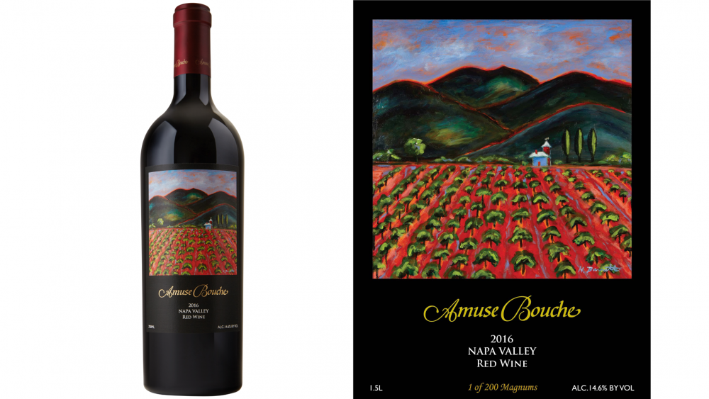 The Amuse Bouche 2016 Red Blend from the Napa Valley has an impressive label to match an impressive wine.
