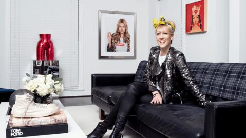 Angela Scott, founder of the eponymous footwear line the Office of Angela Scott