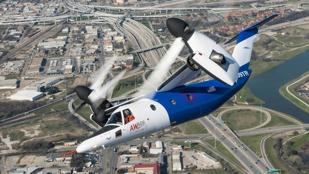 Leonardo's New AW609 Tiltrotor is twice as fast as the average helicopter
