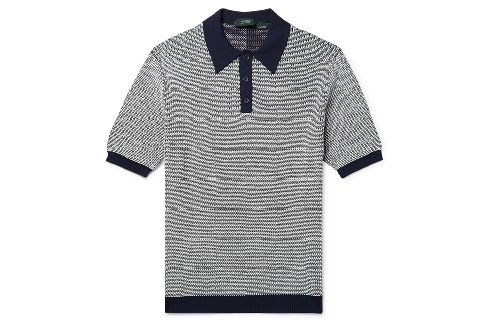 Incotex Slim-Fit Stretch-Knit Polo Shirt