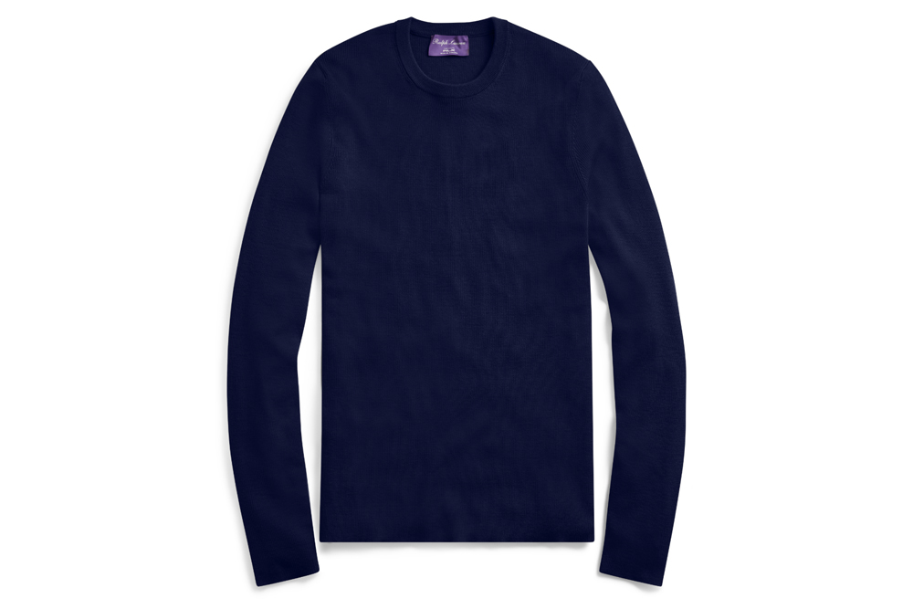 PURPLE LABEL RLX Slim Ribbed Merino Sweater