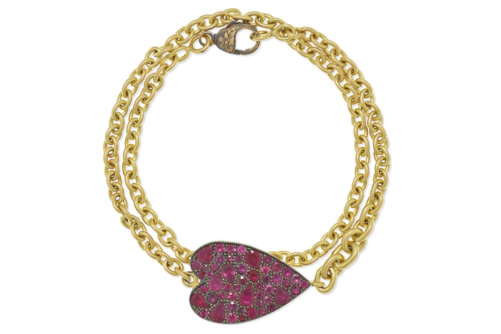 Sylva & Cie 18 Karat Gold and Ruby Bracelet