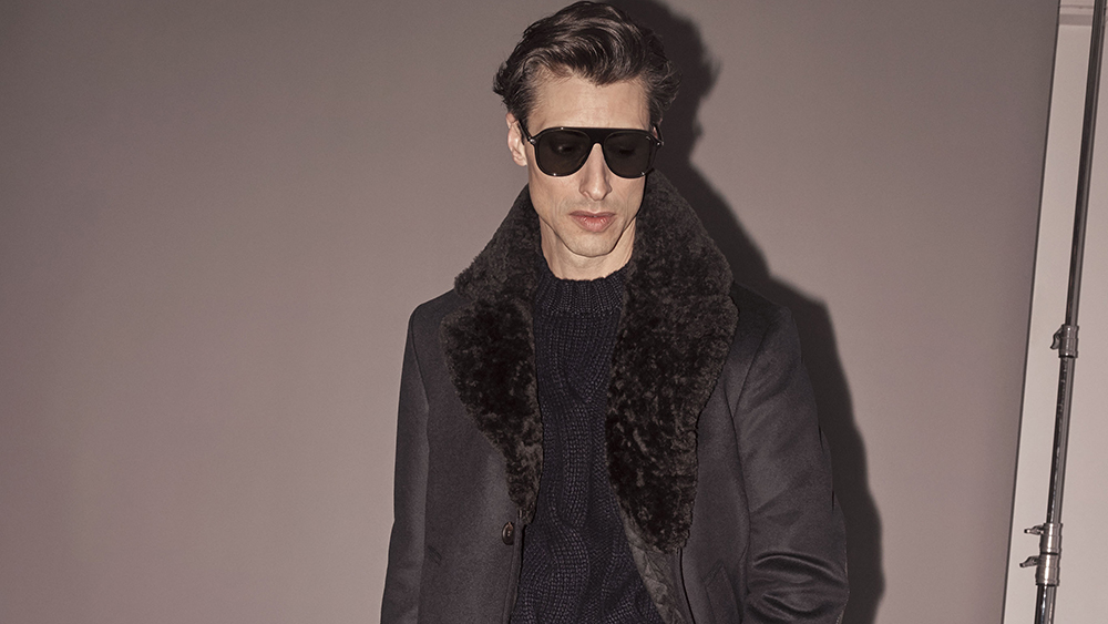 A coat with fur trim from Brioni's fall 2019 collection. Its parent company, Kering, is imposing strict new ethical treatment standards for animals.