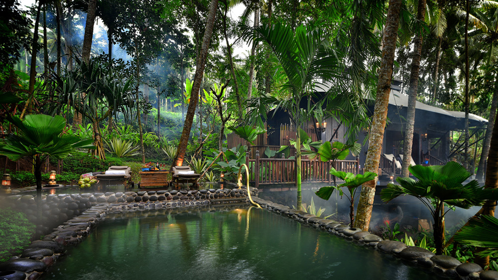 Private saltwater pools compliment the existing greenery at Capella Ubud.