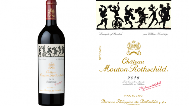 The Château Mouton Rothschild 2016 has an impressive label to match an impressive wine