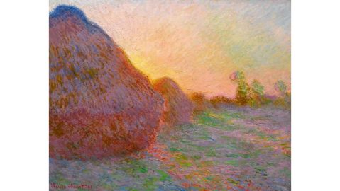 Claude Monet, Meules, 1890, sold for $110.7 million at Sotheby's.