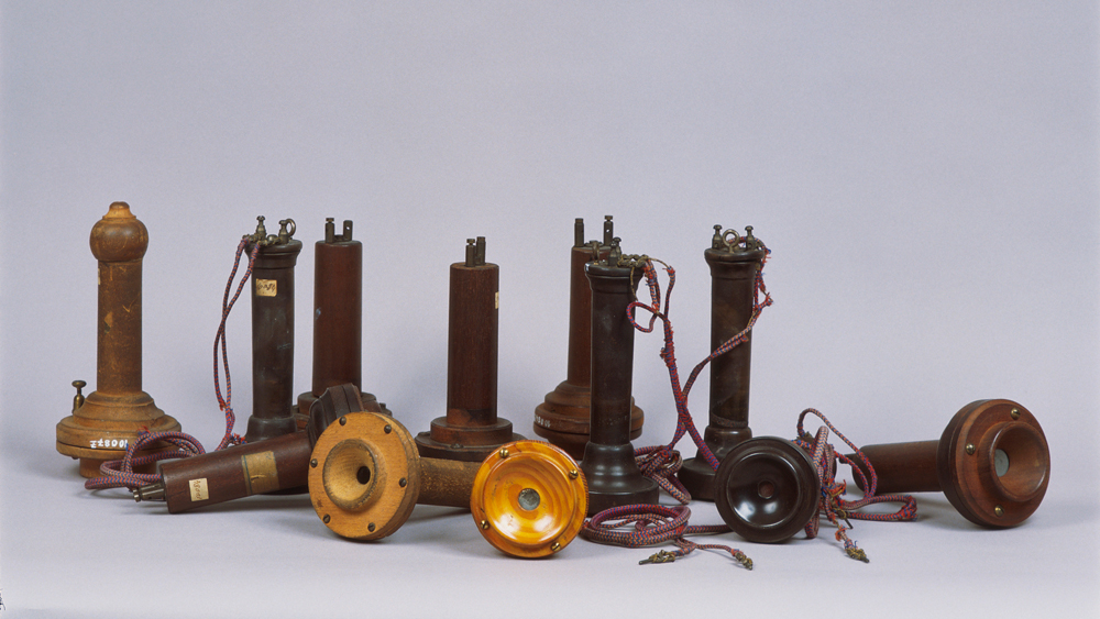 First Reversible Telephones by Alexander Graham Bell