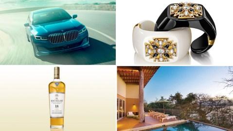 The 2020 BMW Alpina B7, Verdura Maltese Cross Cuff; Macallan Scotch Whiskey; Exclusive Resorts