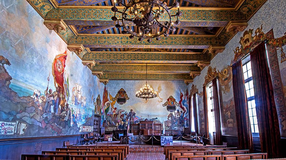 The Mural Room at Santa Barbara County Courthouse