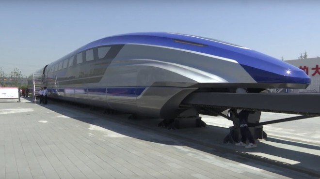 China Railway Rolling Stock Corporation's high-speed maglev train