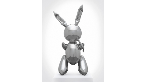 Jeff Koons's Rabbit, 1986, sold for $91.1 million, a record for a living artist.